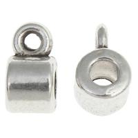 Zinklegierung Stiftöse Perlen, Zylinder, antik silberfarben plattiert, frei von Nickel, Blei & Kadmium, 5x9x6mm, Bohrung:ca. 1.5mm, 2mm, ca. 1754PCs/kg, verkauft von kg