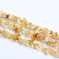 Natürlicher Citrin Perlen, Gelbquarz Perlen, Klumpen, November Birthstone, 4-7mm, Bohrung:ca. 1-2mm, Länge:ca. 15 ZollInch, 10SträngeStrang/Menge, 120PCs/Strang, verkauft von Menge