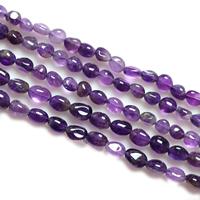 Natürliche Amethyst Perlen, Klumpen, Februar Birthstone, 6-7mm, Bohrung:ca. 1-2mm, Länge:ca. 15 ZollInch, 5SträngeStrang/Menge, 60PCs/Strang, verkauft von Menge