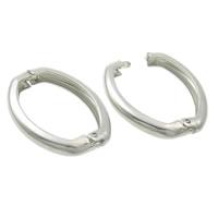 Messing Twister Verschluss, Platinfarbe platiniert, frei von Nickel, Blei & Kadmium, 20x27x4mm, 200PCs/Tasche, verkauft von Tasche