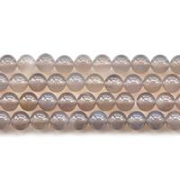 Natürliche graue Achat Perlen, Grauer Achat, rund, verschiedene Größen vorhanden, Länge:ca. 15 ZollInch, verkauft von Menge