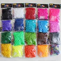 Webstuhl-Bands, Gummi, mit KunststoffverschlussC oder S -Verschluss & Angehängte Häkelnadel & DIY & für Kinder, gemischte Farben, 2mm, 10Taschen/Menge, 600PCs/Tasche, verkauft von Menge