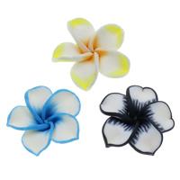 Polymer Ton Perlen , Blume, handgemacht, verschiedene Größen vorhanden, gemischte Farben, Bohrung:ca. 1mm, 100PCs/Tasche, verkauft von Tasche
