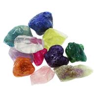 Mischedelstein Perlen, Edelstein, natürlich, gemischt & kein Loch, 25x27x11mm-25x47x19mm, 20PCs/Tasche, verkauft von Tasche