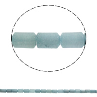 Aquamarin Perle, Zylinder, natürlich, März Birthstone, 10x14mm, Bohrung:ca. 1mm, ca. 28PCs/Strang, verkauft per ca. 15.7 ZollInch Strang