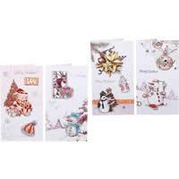 Christmas Greeting Card, Papier, Weihnachtsschmuck & gemischt & buntes Pulver, 120x217mm, 140PCs/Menge, verkauft von Menge