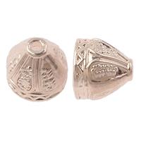 Zinklegierung Perlenkappe, Kegel, echtes Rósegold plattiert, hochwertige Beschichtung und nie verblassen, frei von Nickel, Blei & Kadmium, 9x8mm, Bohrung:ca. 2mm, 6mm, 50PCs/Tasche, verkauft von Tasche