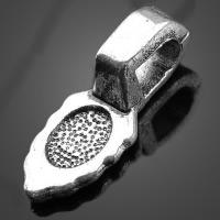 Zinklegierung Kleben Schmucköse, Blatt, antik silberfarben plattiert, frei von Nickel, Blei & Kadmium, 3.40x15.60mm, Bohrung:ca. 3x5mm, 1000PCs/Menge, verkauft von Menge