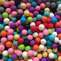 Silicone Beads Round mixed colors Approx 2mm Sold By Bag