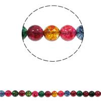 Regenbogen Quarz Perle, rund, natürlich, verschiedene Größen vorhanden, Bohrung:ca. 1.5mm, verkauft per ca. 15.7 ZollInch Strang