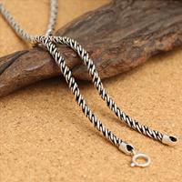 Thailand Kette Halskette, unterschiedliche Länge der Wahl & Seil-Kette, 3mm, verkauft von Strang