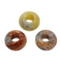 MischEuropa-Korne, Edelstein, natürlich, ohne troll & gemischt, 8x14mm, Bohrung:ca. 6mm, 100PCs/Tasche, verkauft von Tasche
