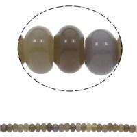Natürliche graue Achat Perlen, Grauer Achat, Rondell, 10x6mm, Bohrung:ca. 1.5mm, ca. 64PCs/Strang, verkauft per ca. 15.7 ZollInch Strang