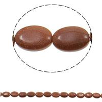 Goldsand Perle, flachoval, natürlich, 13x18x5mm, Bohrung:ca. 1.5mm, ca. 22PCs/Strang, verkauft per ca. 15.3 ZollInch Strang