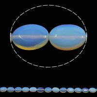 Opal Perlen, flachoval, 13x18x5mm, Bohrung:ca. 1.5mm, ca. 22PCs/Strang, verkauft per ca. 15.3 ZollInch Strang