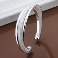 comeon® Schmuck Armband, Messing, versilbert, frei von Nickel, Blei & Kadmium, 15mm, Innendurchmesser:ca. 65mm, Länge:ca. 8 ZollInch, verkauft von PC