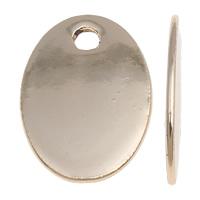 Zinklegierung flachovale Anhänger, vergoldet, hochwertige Beschichtung und nie verblassen, frei von Blei & Kadmium, 11x17x1mm, Bohrung:ca. 2mm, 50PCs/Tasche, verkauft von Tasche