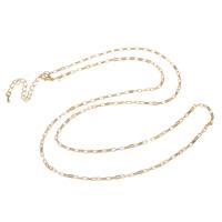 Eiserne Halskette Kette, Eisen, mit Verlängerungskettchen von 8cm, plattiert, Rechteck-Kette, keine, frei von Nickel, Blei & Kadmium, 2x3.50x1mm, verkauft per ca. 29 ZollInch Strang