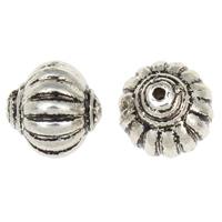 Verkupfertes Kunststoff-Perlen, Verkupferter Kunststoff, Laterne, antik silberfarben plattiert, frei von Nickel, Blei & Kadmium, 17x17mm, Bohrung:ca. 2mm, 30PCs/Tasche, verkauft von Tasche