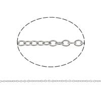 Edelstahl ovale Kette, mit Kunststoffspule, verschiedene Größen vorhanden & Oval-Kette, originale Farbe, 50m/Spule, verkauft von Spule