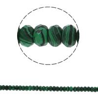 Malachit Perle, Rondell, synthetisch, facettierte, 8x5mm, Bohrung:ca. 1.5mm, ca. 75PCs/Strang, verkauft per ca. 15.7 ZollInch Strang