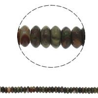 Unakit Perlen, Unakite, flache Runde, natürlich, 6.5x3mm, Bohrung:ca. 1.5mm, ca. 134PCs/Strang, verkauft per ca. 15.7 ZollInch Strang