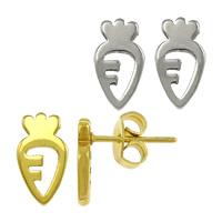 Edelstahl Ohrringe, Karotte, plattiert, keine, 5.50x10x11.50mm, verkauft von Paar
