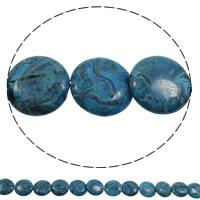 Sodalith Perlen, Sosalith, flache Runde, natürlich, blau, 16x4mm, Bohrung:ca. 1mm, Länge:ca. 15 ZollInch, 5SträngeStrang/Tasche, ca. 26PCs/Strang, verkauft von Tasche