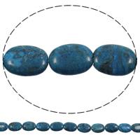 Sodalith Perlen, Sosalith, flachoval, natürlich, 15x20x4mm, Bohrung:ca. 1mm, Länge:ca. 15 ZollInch, 5SträngeStrang/Tasche, ca. 20PCs/Strang, verkauft von Tasche