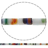 Millefiori Glasperlen, Glas Millefiori, Rohr, handgemacht, verschiedene Größen vorhanden, Bohrung:ca. 1mm, Länge:ca. 14.5 ZollInch, verkauft von Tasche