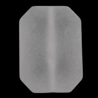 Matt Acryl Perlen, Achteck, satiniert, weiß, 21x30x10mm, Bohrung:ca. 1mm, 2Taschen/Menge, ca. 105PCs/Tasche, verkauft von Menge
