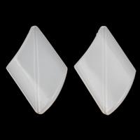 Gelee-Stil-Acryl-Perlen, Acryl, Rhombus, Gellee Stil, weiß, 30x46x7mm, Bohrung:ca. 1mm, 2Taschen/Menge, ca. 100PCs/Tasche, verkauft von Menge