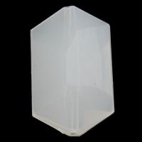 Gelee-Stil-Acryl-Perlen, Acryl, Klumpen, facettierte & Gellee Stil, weiß, 22x35x14mm, Bohrung:ca. 1mm, 2Taschen/Menge, ca. 90PCs/Tasche, verkauft von Menge