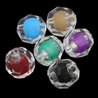 Perlen in Perlen Acrylperlen, Acryl, rund, facettierte, keine, 8mm, Bohrung:ca. 1mm, ca. 1900PCs/Tasche, verkauft von Tasche