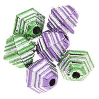 Silberdruck Acrylperlen, Acryl, Trommel, keine, 11x10mm, Bohrung:ca. 1mm, ca. 1200PCs/Tasche, verkauft von Tasche