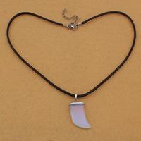 Meer Opal Halskette, mit Gewachste Hanfschnur & Messing, Zinklegierung Karabinerverschluss, mit Verlängerungskettchen von 5cm, Degenscheide, 17x29x6mm, 3mm, Länge:ca. 17 ZollInch, 5SträngeStrang/Tasche, verkauft von Tasche