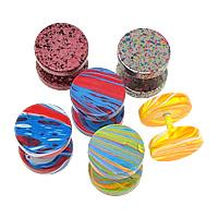 Edelstahl Ohrpiercing Schmuck, Einbrennlack, gemischt, 10x10x2mm, 1mm, 10PaarPärchen/Menge, verkauft von Menge