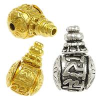 Messing 3-Loch-Guru-Perlen-Set, Trommel, plattiert, buddhistischer Schmuck & om mani padme hum & verschiedene Größen vorhanden, keine, frei von Nickel, Blei & Kadmium, verkauft von Menge