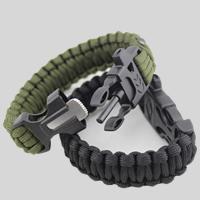 Überleben Armbänder, Nylonschnur, mit Kunststoff, mit Feuer-starter & mit Trillerpfeife, keine, 20mm, Länge:ca. 9.8 ZollInch