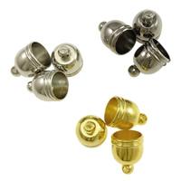 Messing Endkappe, plattiert, keine, frei von Nickel, Blei & Kadmium, 8x10mm, Bohrung:ca. 1mm, 7mm, 1000PCs/Menge, verkauft von Menge
