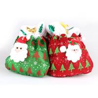 Nichtgewebte Stoffe Christmas Gift Bag, mit Baumwollsamt, Handtasche, Weihnachtsschmuck, gemischte Farben, 200x240mm, 4PCs/Tasche, verkauft von Tasche