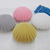 Baumwollsamt Ohrring Kasten, mit Kleber Film, Schale, keine, 60x55x28mm, 100PCs/Menge, verkauft von Menge