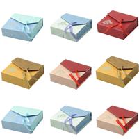 Karton Armbandkasten, mit Satinband, Rechteck, keine, 90x95x30mm, 48PCs/Menge, verkauft von Menge