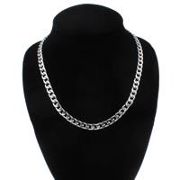 Eiserne Halskette Kette, Eisen, Platinfarbe platiniert, verschiedene Größen vorhanden & Kandare Kette & 2 strängig, frei von Nickel, Blei & Kadmium, verkauft per ca. 19.5 ZollInch Strang