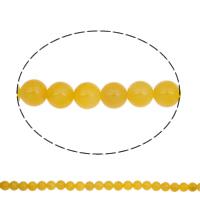Natürliche gelbe Achat Perlen, Gelber Achat, rund, 10mm, Bohrung:ca. 1mm, ca. 37PCs/Strang, verkauft per ca. 14.8 ZollInch Strang