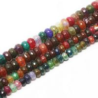 Achat Perlen, natürliche & verschiedene Größen vorhanden, gemischte Farben, Bohrung:ca. 1mm, verkauft per ca. 15.8 ZollInch Strang