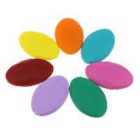 Silikon-Perlen, Silikon, flachoval, FDA-Zulassung, keine, 40x25x9mm, Bohrung:ca. 2mm, 50PCs/Tasche, verkauft von Tasche