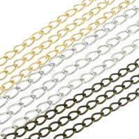 Twist ovale Einsenkette, Eisen, plattiert, verschiedene Größen vorhanden, keine, frei von Nickel, Blei & Kadmium, 95m/Tasche, verkauft von Tasche
