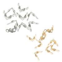 Eisen Perlenkappe, Zinklegierung, plattiert, keine, frei von Nickel, Blei & Kadmium, 4x7.42x2.81mm, Bohrung:ca. 1mm, 10000PCs/Tasche, verkauft von Tasche