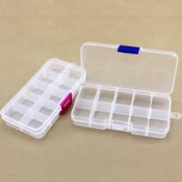 Schmuck Nagelkasten, Kunststoff, Rechteck, transparent & 10 Zellen, keine, 128x65x22mm, verkauft von PC